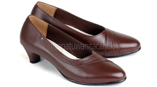 Sepatu Kerja Wanita/Sepatu Pantofel Perempuan Kulit Terbaru Murah Branded ES 561