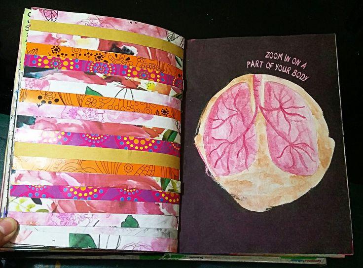 "Anti Journal ""Zoom in on a part of your body"" David Sinden; Nikalas Catlow #AntiJournal #ArtJournal"