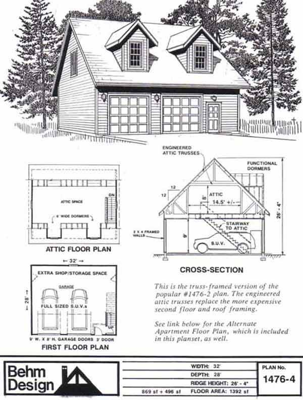 Detached garage plans with loft for Detached garage utah