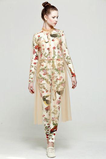 garb luscious: Dresses Sheer, Floral Patterns, Style Bubbles, Edgy Style, Lesia Paramonova, Lesya Paramonova, Gardens Parties, Chiffon Dresses,  Pyjama