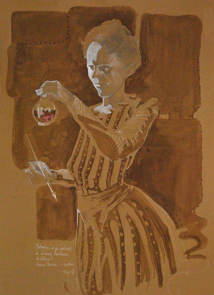 Piotrusiu... #MariaSkłodowskaCurie #rad #róż #coffee #andSome #artforfun #artforsale #tybur