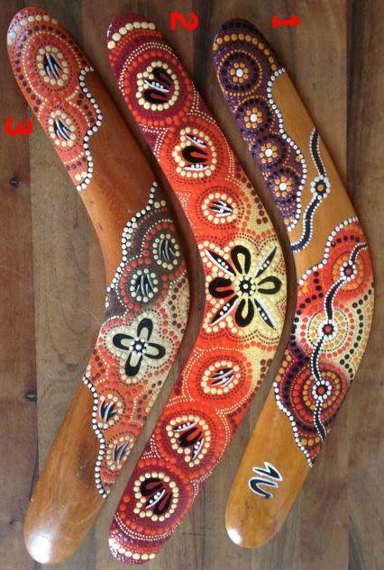 Deko Holz Bumerang Bunte Farben 40cm Kaufen Im Australien Versand