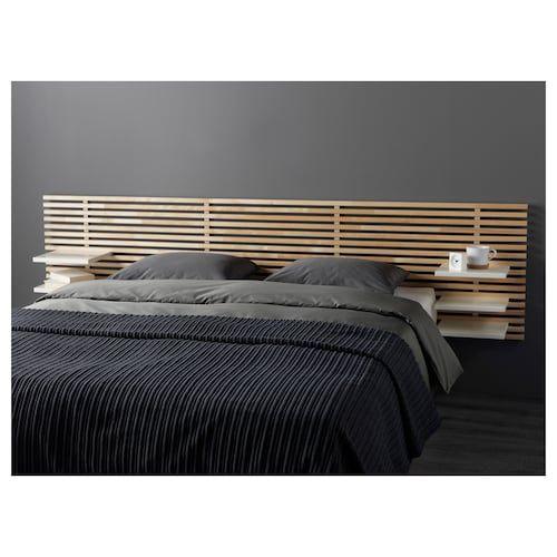 MANDAL Tête de lit – bouleau, blanc
