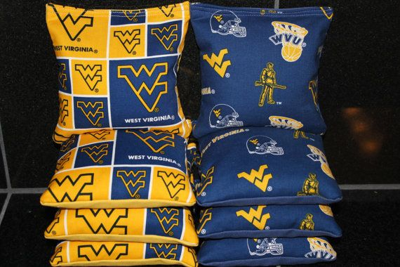 University of WEST VIRGINIA Mountaineers WVU Cornhole by lots2ofr2, $22.99