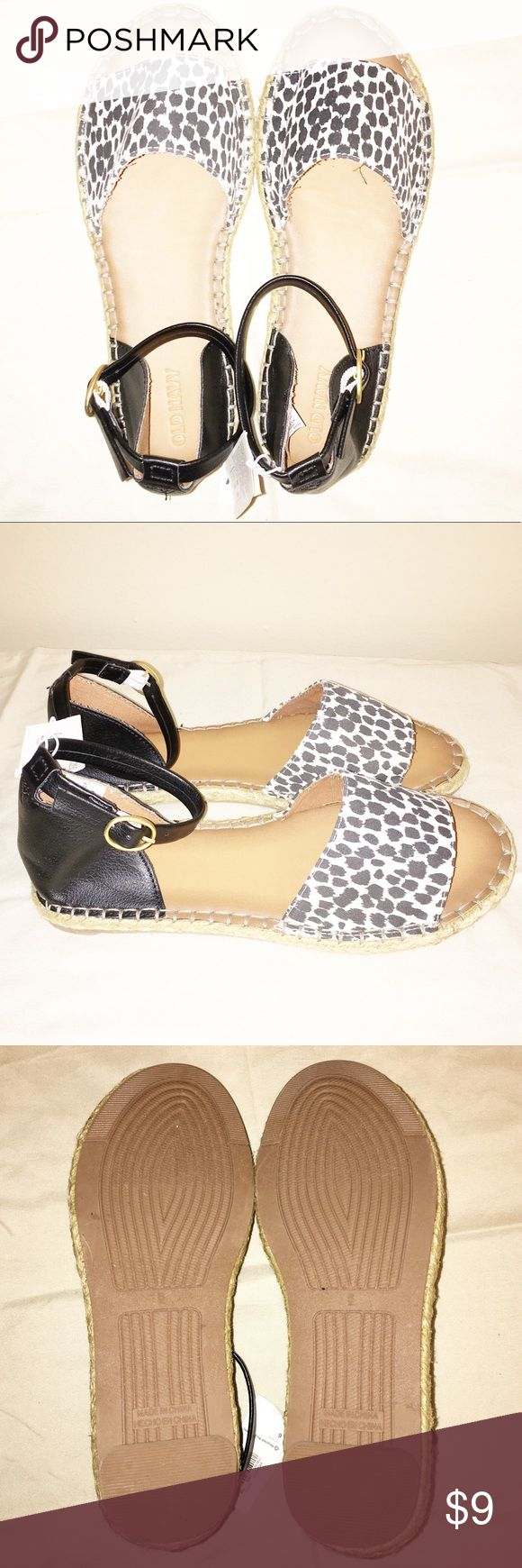 Old Navy NWT Espadrille Shoes, Size 6 NWT Old Navy Espadrille Buckle Shoes, Size 6. Animal print/Black. Old Navy Shoes Espadrilles