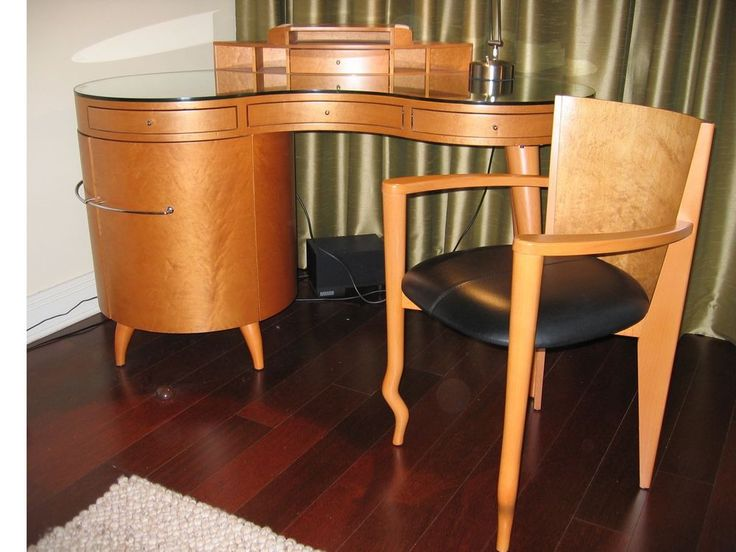 Maurice Villency Art Deco Desk With Matching Chair