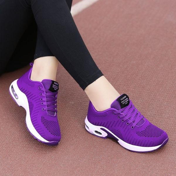 Women Sport Running Tennis Walking Shoes Lady Fashion Casual Gym Jogging Sneakers Wish Sneakers Fashion Purple Tennis Shoes White Sneakers Women