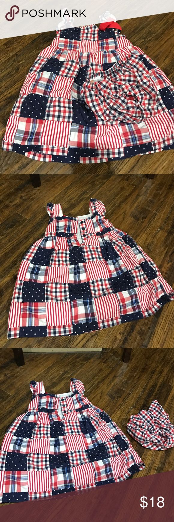 Patriotic dress 12-18 month Gymboree worn once Cute red white and blue Gymboree dress worn one time. 12-18 month. Gymboree Dresses Casual
