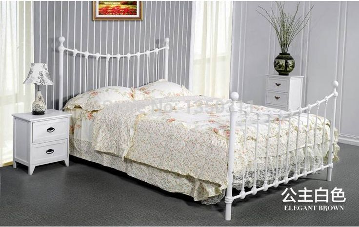 653.20$  Watch here - http://alijdy.worldwells.pw/go.php?t=32226573011 - Home Furnishing promotion Tieyi bed double bed Mediterranean iron hob bed single bed bedroom furniture
