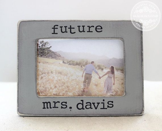 Engagement Gift Personalized Picture Frame Rustic by CrystalCoveDS $24.95
