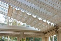 Blinds for the glass roof so it doesn't get as hot via Parish Conservatories