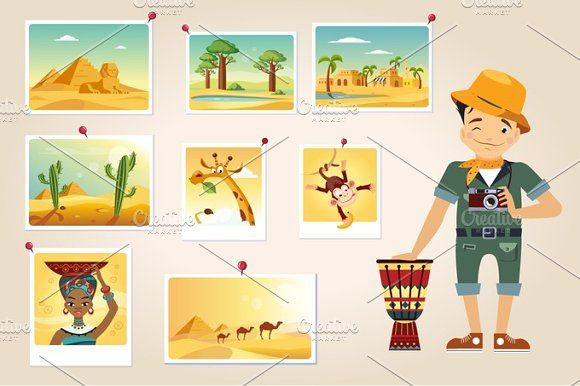 Africa Photographer Surrounded By Photos by TopVectors on @creativemarket
