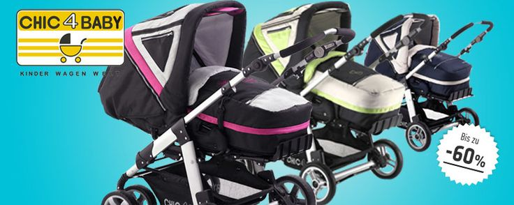 """Den wendigen """"Enya XL"""" Kombi-Kinderwagen von Chic4Baby mit extra großer Liegefläche gibt es jetzt bei uns statt für 249€ für nur 170€ !"""