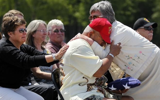 46 years after his death in Vietnam, Marine returns home for funeral