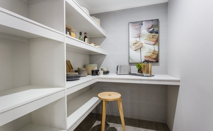 Large walk in pantry with preparation benchtop