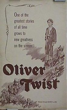 June 28, 1948 – David Lean's Oliver Twist, based on Charles Dickens's famous novel, premieres in the UK. It is banned for 3 years in the U.S. because of alleged anti-Semitism in depicting master criminal Fagin, played by Alec Guinness.