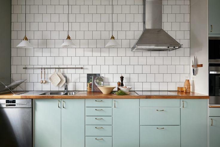 Une cuisine de rêve, à la fois esthétique et fonctionnelle. Avec, en bonus, une touche de vert menthe !