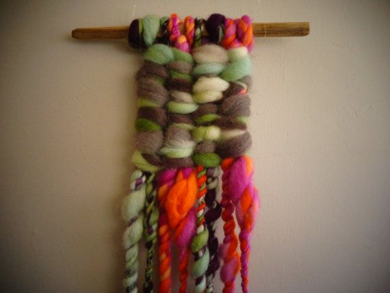 Colorful Wall Hanger by CrisalidaTextile on Etsy