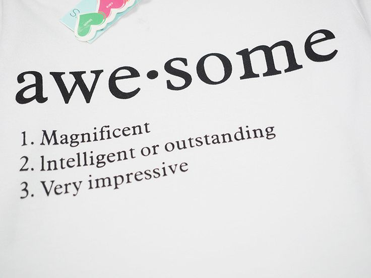 """Define """"Awesome"""" (2-pc)"""