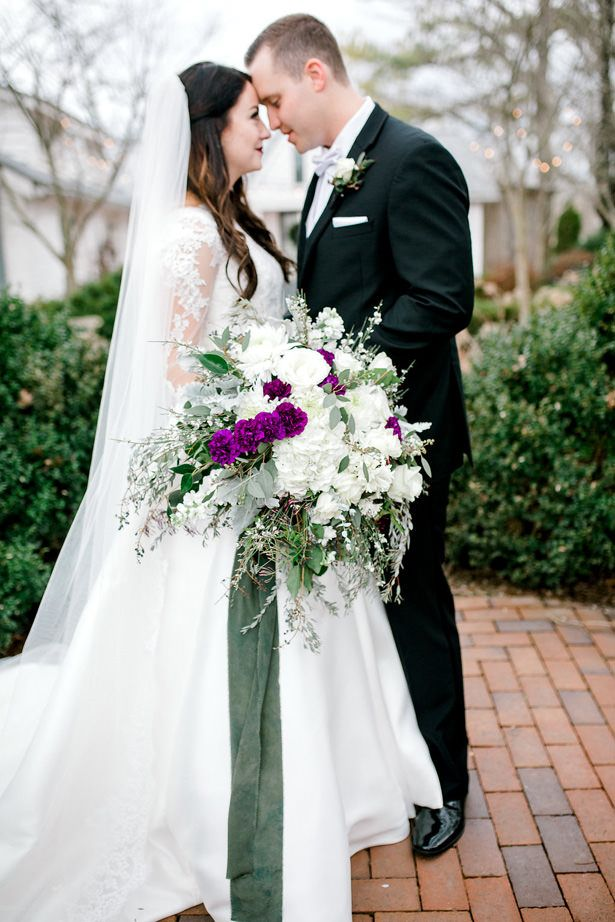 Wild Wedding Bouquet With Purple Accents Honey Bee Photography