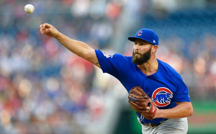 Max Scherzer allowed one run and two hits as the Washington Nationals knocked Chicago Cubs starter Jake Arrieta out in the fifth inning on the way to a 6-1 victory in a showdown of the past two NL Cy Young Award winners.