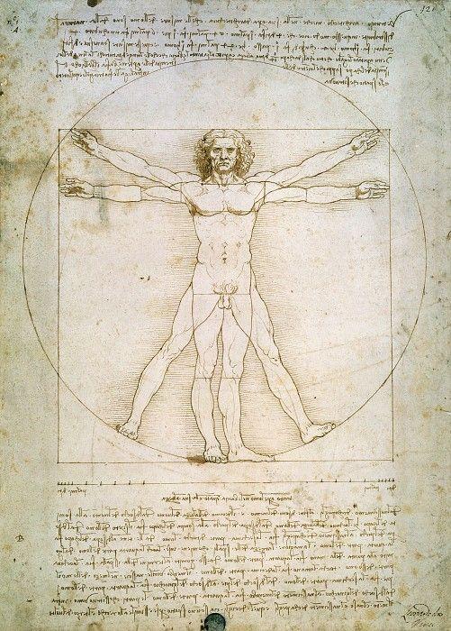 Витрувианский человек. Леонардо да Винчи