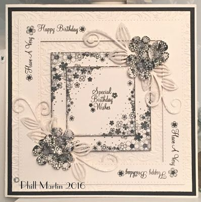 Phills' Crafty Place: Giveaway Card - Blossom Frames in Black & Cream