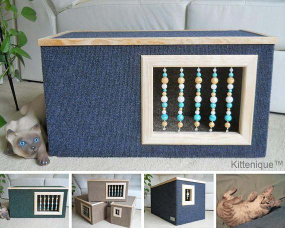 Indoor cat house. https://www.etsy.com/shop/Kittenique?ref=l2-shopheader-name