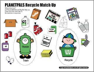 Planetpals Recycle Match up game