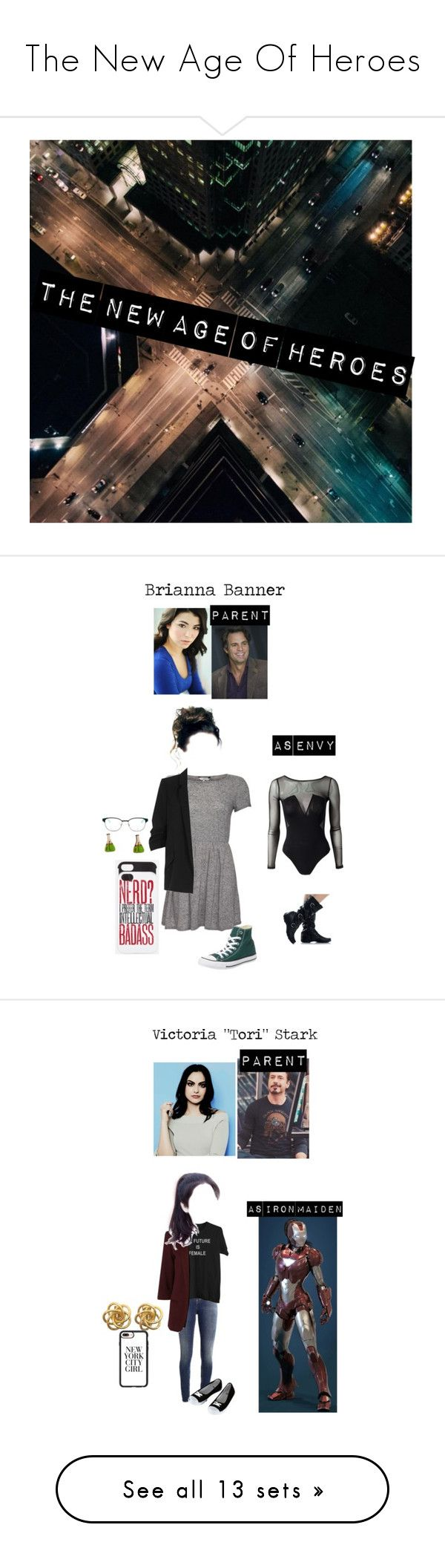 """""""The New Age Of Heroes"""" by randomfangirllookingforaspark ❤ liked on Polyvore featuring art, Converse, River Island, Three Little Words, Kate Rowland, Kate Spade, Supra, Casetify, Victoria, Victoria Beckham and MANGO"""