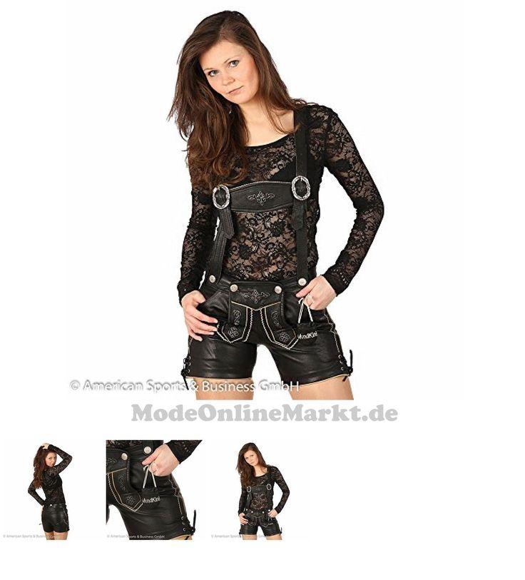 4250784753333   #MondKini #Damen #Lederhose #kurz, #Shorts  #8222;Cocoand#8220; #black #nappa #34 #schwarz
