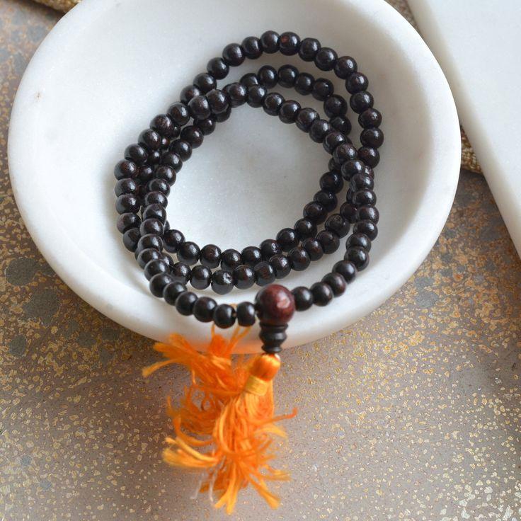 5mm Rosewood Beads Mala, Tibetan Buddhist Rosewood Beads, 5mm Rosewood Beads, 108 Wood Mala Beads, 5mm Dark Brown Wood Beads, LUM17-0121A by WanderlustWorldArts on Etsy