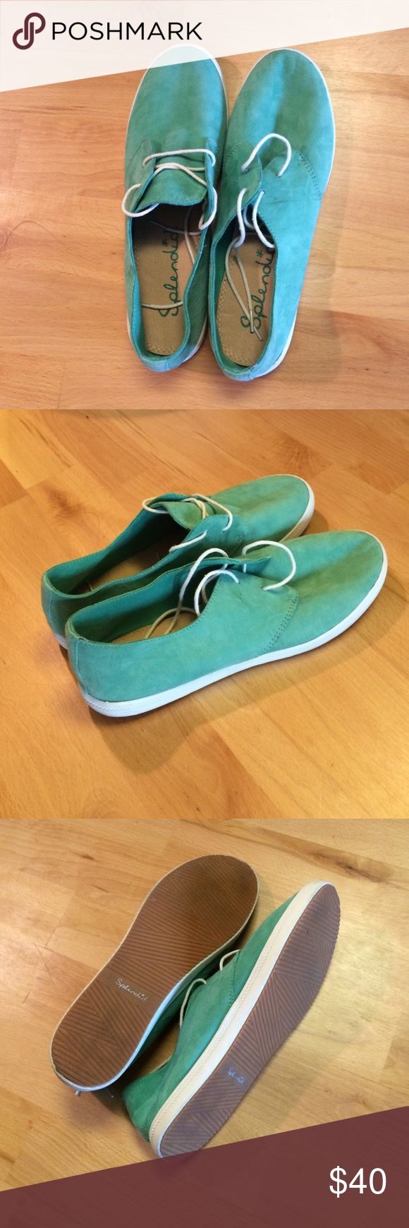 Splendid Shoes Never worn! Cute sneakers for any outfit! Fit true to size. Adorable mint green color. Splendid Shoes Sneakers