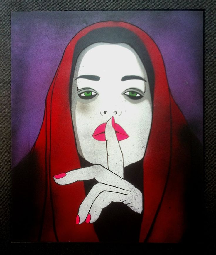 Silentium - Original, Handmade Stencil, Artwork Painting by DrStencil on Etsy