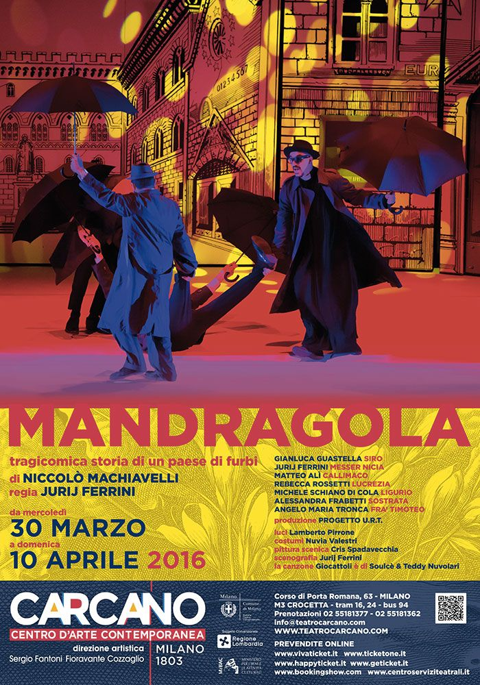 MANDRAGOLA | Teatro Carcano | Locandina ufficiale