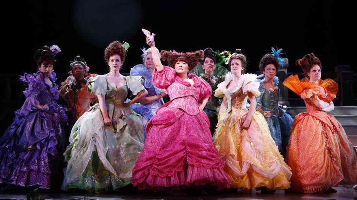 """Ann Harada leads the women against the one who """"stole"""" the prince from them.  Cinderella on Broadway"""