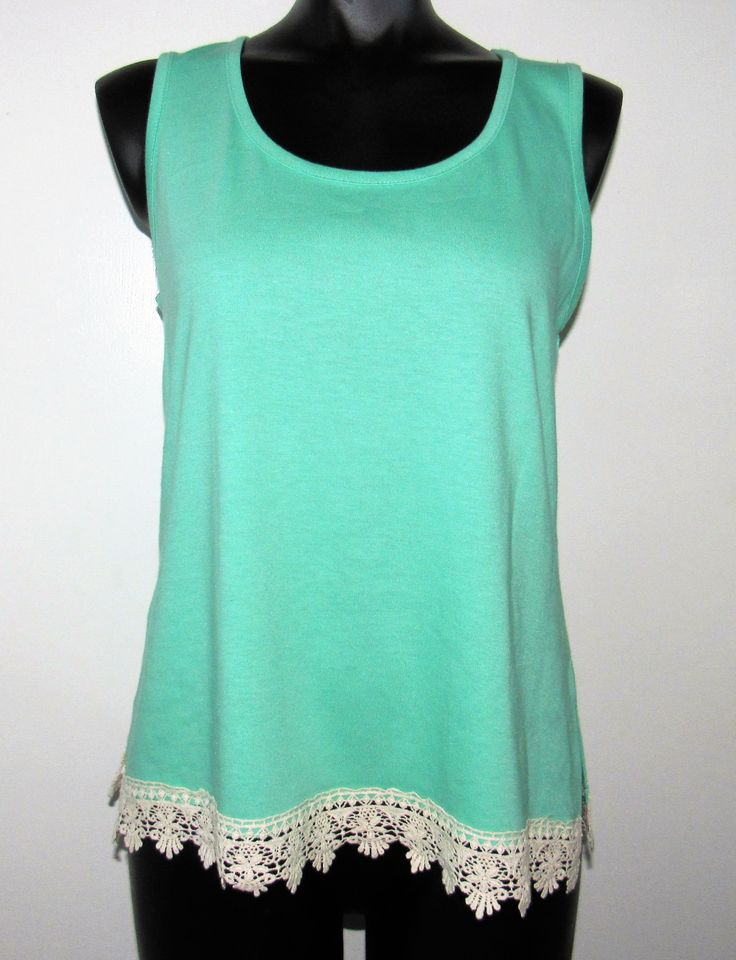 Green Cami with Trim