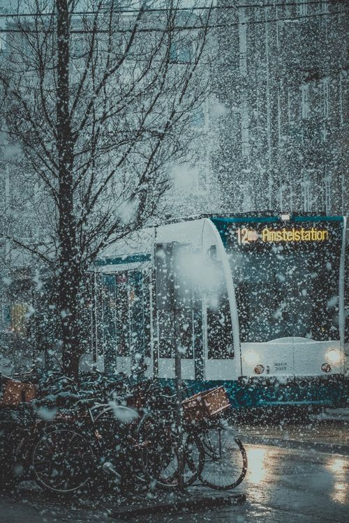 Evening Snow ~ Amsterdam | By Maksim Dyachuk
