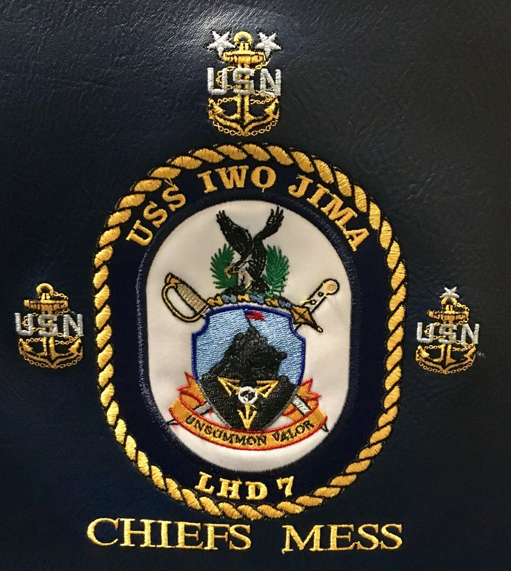 USS Iwo Jima LHD-7 Chief Petty Officer Association (CPOA) Mess Logo