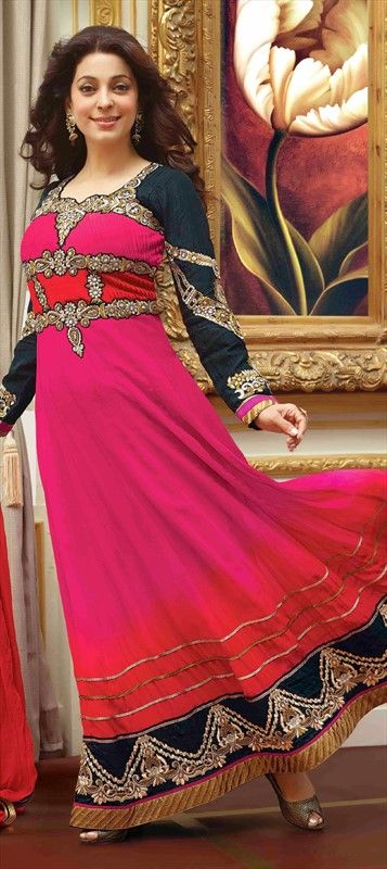 409156: #Bollywood #JuhiChawla #anarkali #Getthislook #pink
