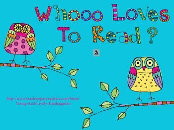 Cute owls are back to help meet kindergarten concepts of print (smartboard-free!!)