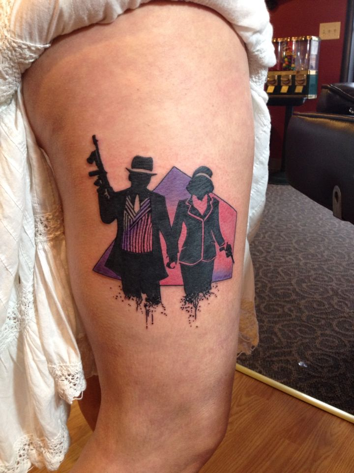 Tattoo Bonnie And Clyde Tattoos By Drayton Fraley Pinterest Tattoo Ideen And Rabe
