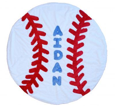 Personalized Baseball Blanket-baseball,baby,personlized,blanket,sports,gift,name,boys,soft,baby,gift,boogie,baby