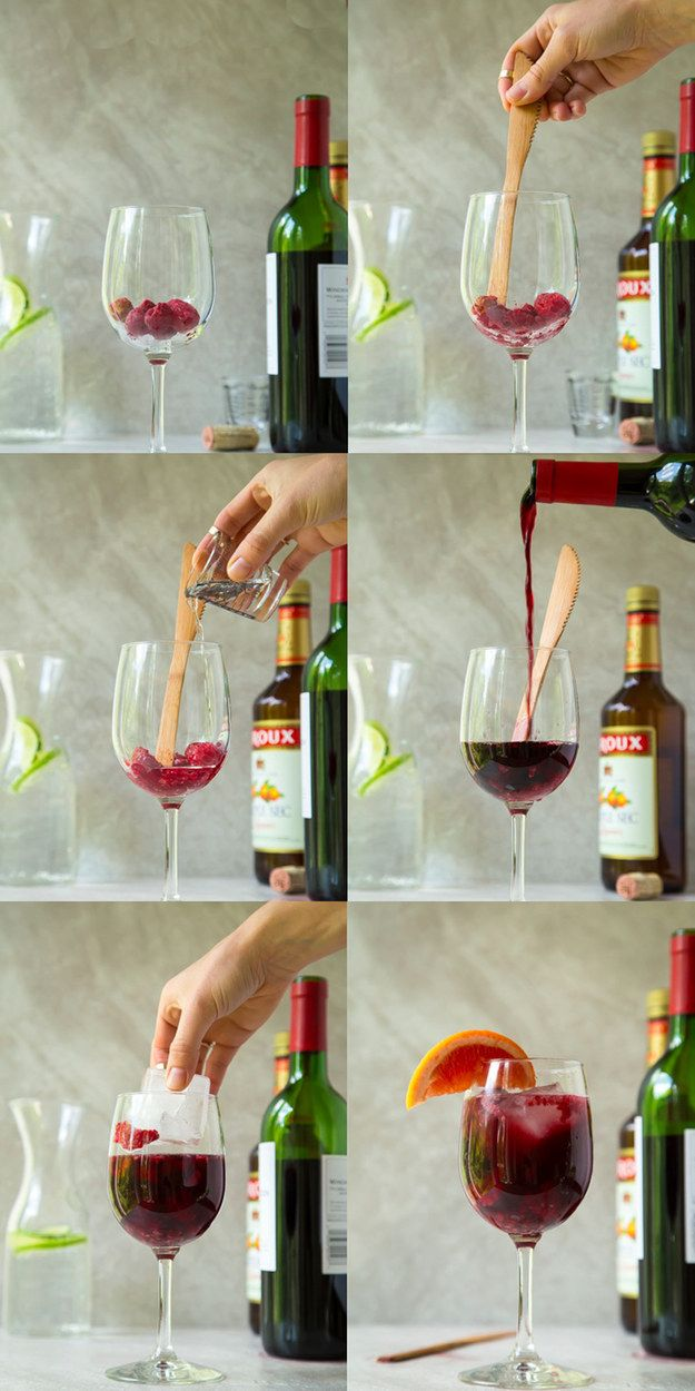 Make single-serve sangria with just four ingredients. | 17 Recipes Every Lazy Girl Needs To Know
