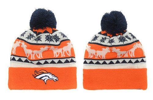c8e77d830a2 Denver Broncos Winter Outdoor Sports Warm Knit Beanie Hat Pom Pom ...