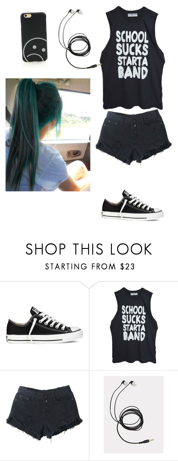 """Gym day"" by xxx-rawr-xx ❤ liked on Polyvore featuring Converse, High Heels Suicide and Marc by Marc Jacobs"