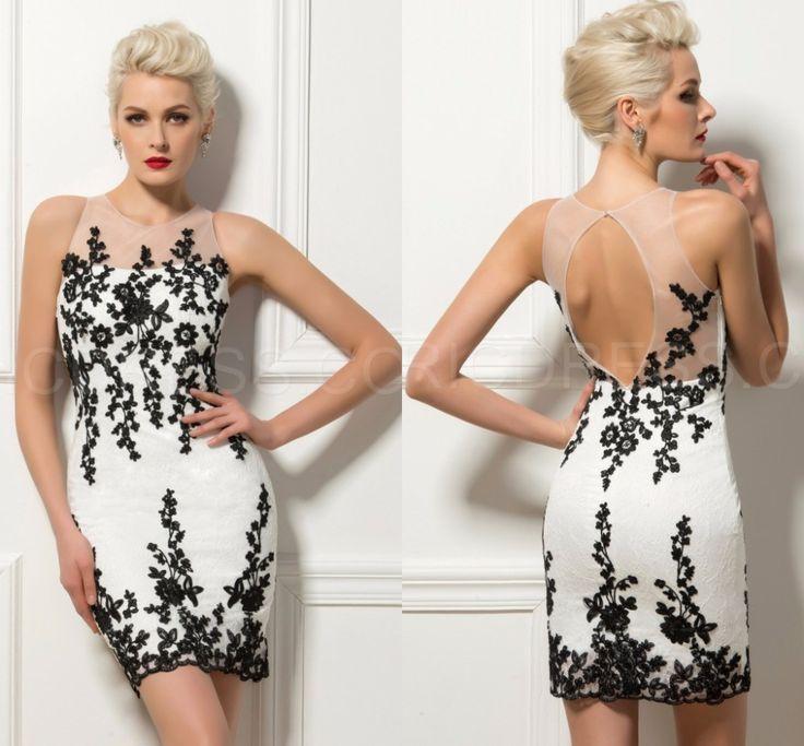 White Lace Summer Style Short Cocktail Dresses Party Dresses vestidos para festa vestido de festa curto vestidos de coctel