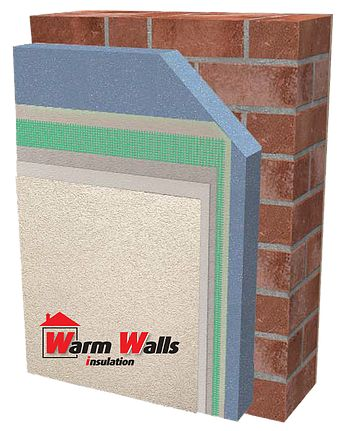 External wall insulation finish by warm walls Insulation
