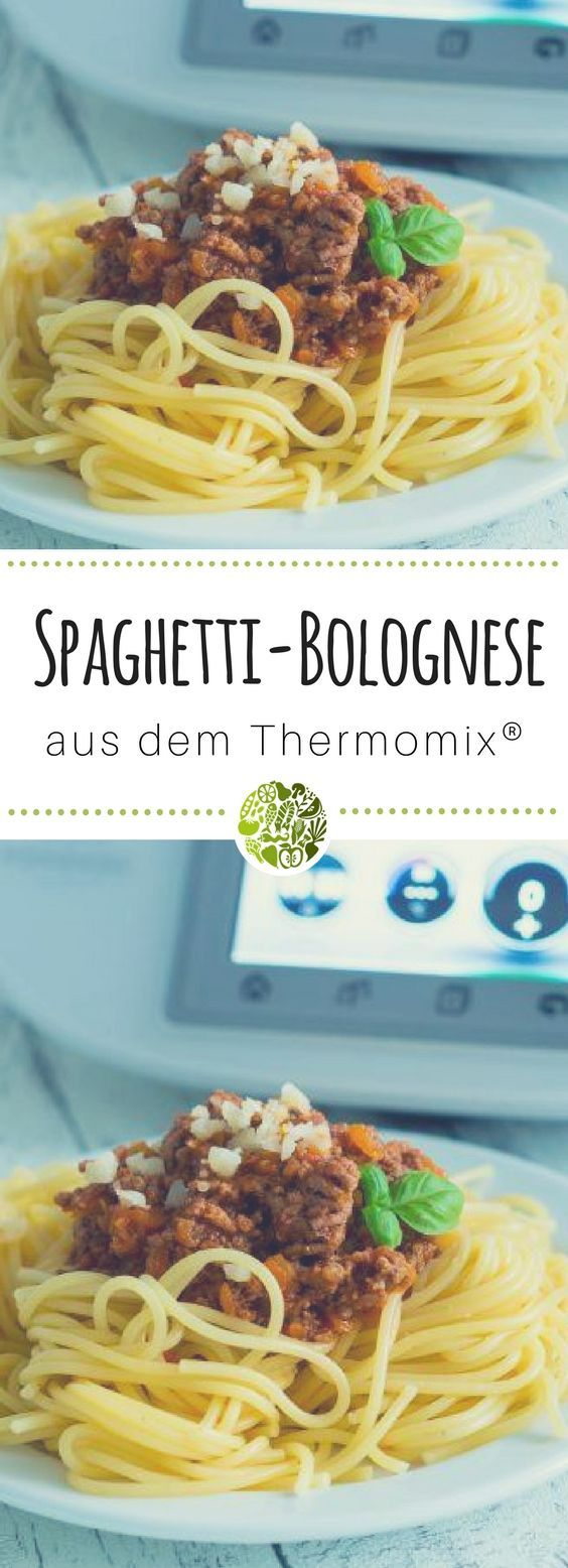 Spaghetti Bolognese from the Thermomix   – will-mixen.de Rezepte aus dem Thermomix