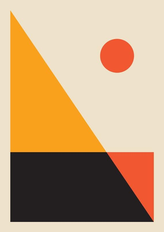Sunset Abstract Print Sunset Print Modern Wall Art Etsy With